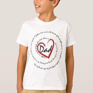Father's Day Dad Heart T-Shirt