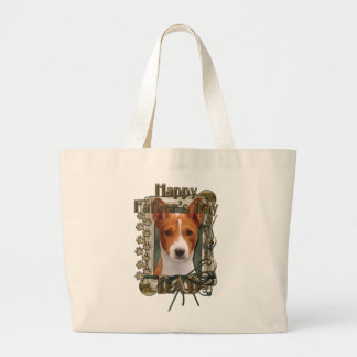 Fathers Day DAD - Stone Paws - Basenji Bags