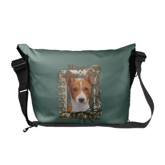 Fathers Day DAD - Stone Paws - Basenji Courier Bag