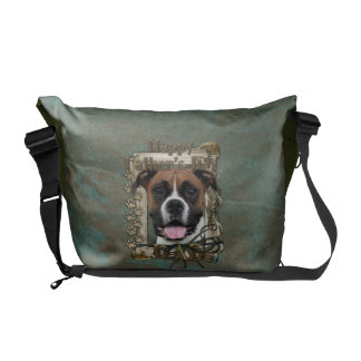 Fathers Day DAD - Stone Paws - Boxer - Vindy Messenger Bag