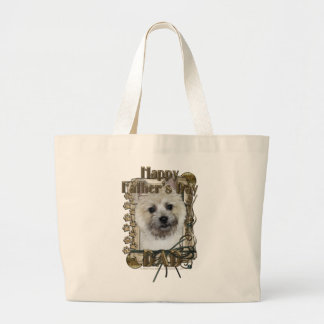 Fathers Day DAD - Stone Paws - Cairn - Teddy Bear Jumbo Tote Bag
