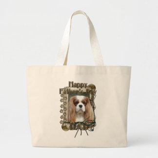 Fathers Day DAD - Stone Paws - Cavalier - Blenheim Jumbo Tote Bag