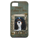 Fathers Day DAD- Stone Paws - Cavalier - Tri iPhone 5 Covers
