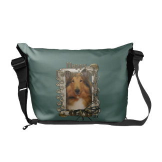 Fathers Day DAD - Stone Paws - Collie - Natalie Messenger Bags