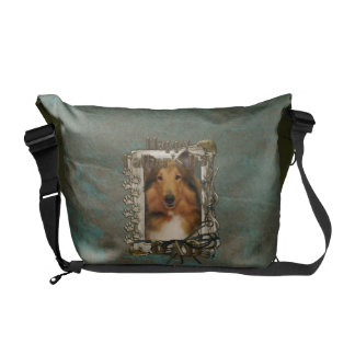 Fathers Day DAD - Stone Paws - Collie - Natalie Commuter Bag
