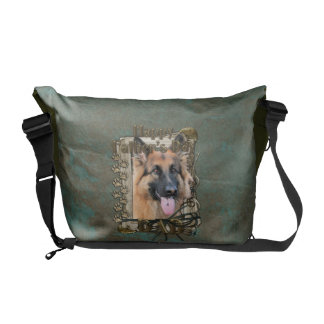 Fathers Day DAD - Stone Paws - German Shepherd Courier Bag