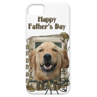 Fathers Day DAD Stone Paws Golden Retriever Mickey iPhone 5 Covers