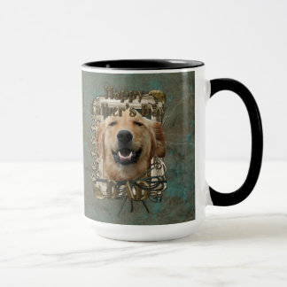 Fathers Day DAD Stone Paws Golden Retriever Mickey Mug