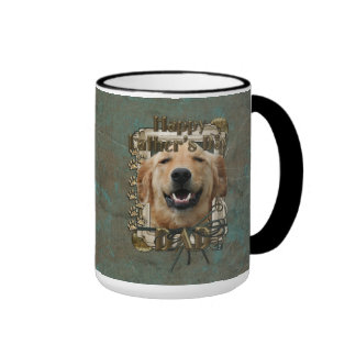 Fathers Day DAD Stone Paws Golden Retriever Mickey Ringer Coffee Mug