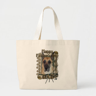 Fathers Day DAD - Stone Paws - Great Dane Tote Bags
