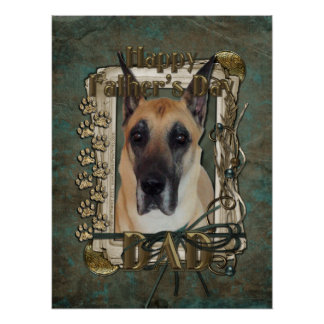 Fathers Day DAD - Stone Paws - Great Dane Posters