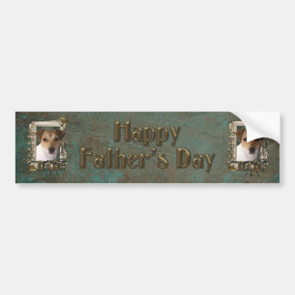 Fathers Day DAD - Stone Paws - Jack Russell Bumper Sticker