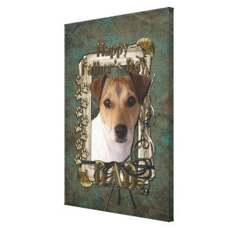 Fathers Day DAD - Stone Paws - Jack Russell Stretched Canvas Prints