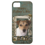 Fathers Day DAD - Stone Paws - Jack Russell Case For The iPhone 5