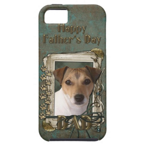 Fathers Day DAD - Stone Paws - Jack Russell iPhone 5 Case
