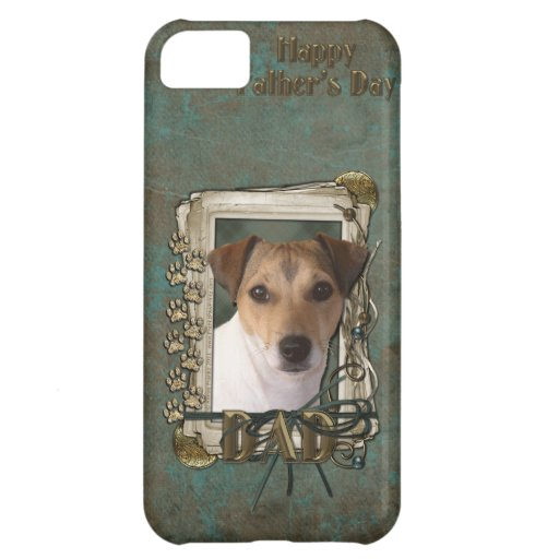 Fathers Day DAD - Stone Paws - Jack Russell Case For iPhone 5C