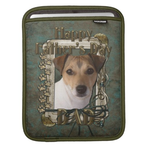 Fathers Day DAD - Stone Paws - Jack Russell Sleeve For iPads