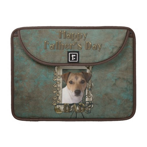 Fathers Day DAD - Stone Paws - Jack Russell Sleeve For MacBook Pro