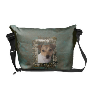 Fathers Day DAD - Stone Paws - Jack Russell Messenger Bags