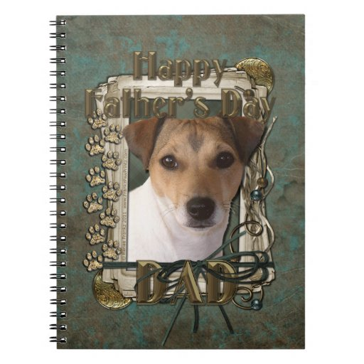 Fathers Day DAD - Stone Paws - Jack Russell Spiral Note Book
