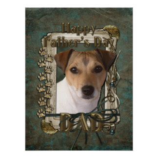 Fathers Day DAD - Stone Paws - Jack Russell Poster