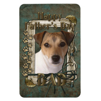 Fathers Day DAD - Stone Paws - Jack Russell Rectangular Magnets