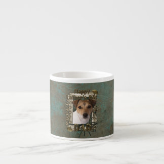 Fathers Day DAD - Stone Paws - Jack Russell Espresso Cup