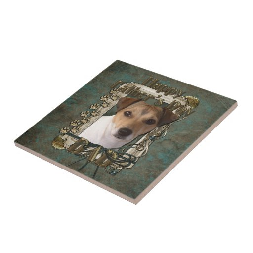 Fathers Day DAD - Stone Paws - Jack Russell Ceramic Tile
