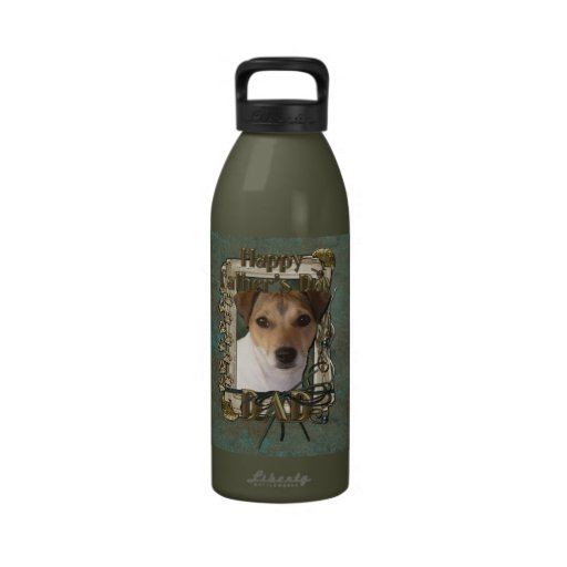 Fathers Day DAD - Stone Paws - Jack Russell Reusable Water Bottles