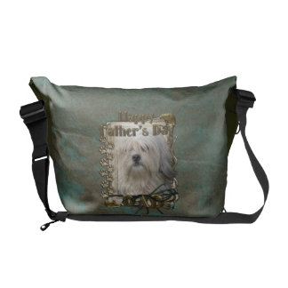 Fathers Day DAD - Stone Paws - Lowchen Courier Bags