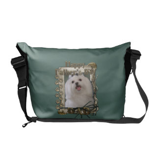 Fathers Day DAD - Stone Paws - Maltese Commuter Bag