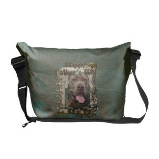 Fathers Day DAD - Stone Paws - Mastiff - Snoop Messenger Bags
