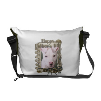 Fathers Day DAD - Stone Paws - Pitbull Puppy Commuter Bag