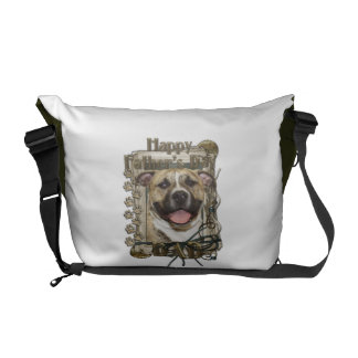 Fathers Day DAD - Stone Paws - Pitbull - Tigger Messenger Bags