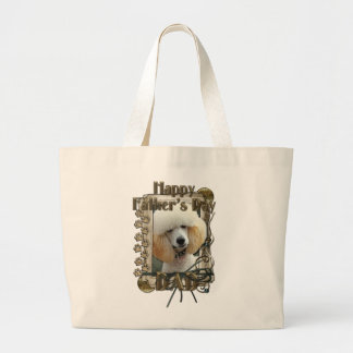 Fathers Day DAD - Stone Paws - Poodle - Apricot Canvas Bags