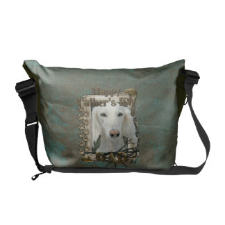 Fathers Day DAD - Stone Paws - Saluki Commuter Bags