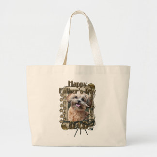 Fathers Day DAD - Stone Paws - ShihPoo - Maggie Jumbo Tote Bag
