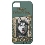 Fathers Day DAD - Stone Paws - Siberian Husky iPhone 5 Cover