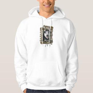 Fathers Day DAD - Stone Paws - Siberian Husky Sweatshirt