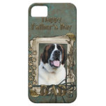 Fathers Day DAD - Stone Paws - St Bernard - Mae iPhone 5 Cover