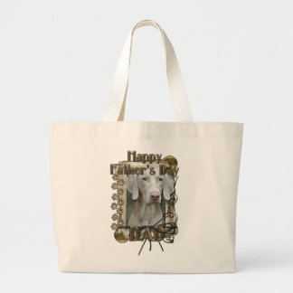 Fathers Day DAD - Stone Paws - Weimaraner Bag