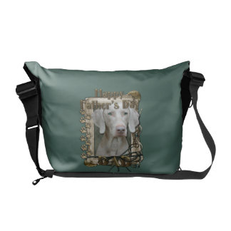 Fathers Day DAD - Stone Paws - Weimaraner Commuter Bag