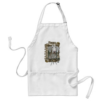 Fathers Day DAD - Stone Paws - Weimaraner Standard Apron