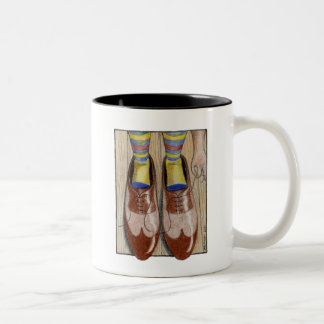 Father's Day Daddy's Shoes Two-Tone Mug