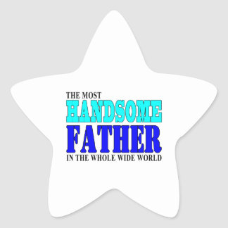 Fathers Day Dads Birthday Parties Handsome Father Star Sticker