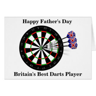 Father's Day Dart Board And Darts Card