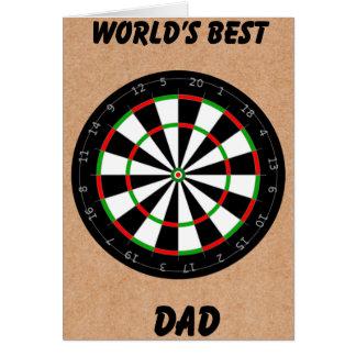 Father's Day Dart Board Card