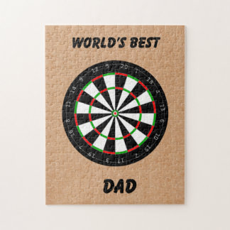 Father's Day Dart Board World's Best Dad Jigsaw Puzzle