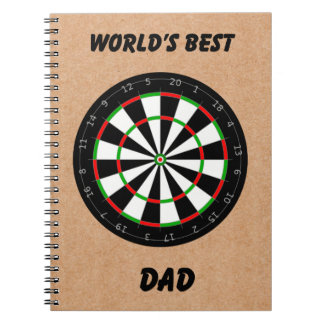 Father's Day Dart Board World's Best Dad Notebook