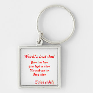 Father's day-drive safely keychains